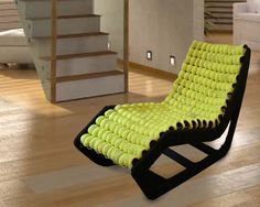 I so want this...its made from tennis balls!