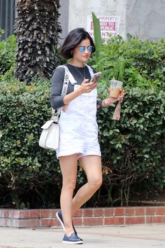 Lucy Hale stops by Joan's on Third for lunch with friends in Studio City, CA | July 25th, 2017
