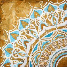 Original Mandala Painting on Canvas by EgleMANDALAdesign on Etsy