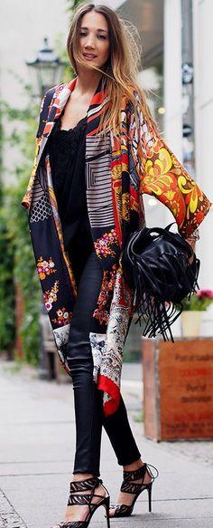 Amazing Print Kimono