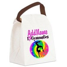 GYMNAST STAR Canvas Lunch Bag Awesome personalized Gymnastics designs available on Tees, Apparel and Gifts. http://www.cafepress.com/sportsstar/10114301 #Gymnastics #Gymnast #WomensGymnastics #Gymnastgift #Lovegymnastics #PersonalizedGymnast