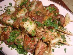 recette Brochette de rognon et foie de porc au cumin