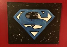 Super Panthers by yours truly! #panthers #art #handpainted #felicia #superman #forsale #buy #16x20
