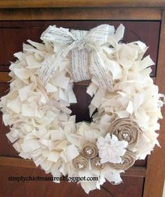 Muslin is one of my favorite materials. And because I use it a lot, I have alot of scraps. I took this Christmas wreath that I used in ...