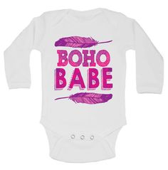 Cute Baby Girl Onesie and Shirt BoHo Babe by LittleRoyalteeShirts