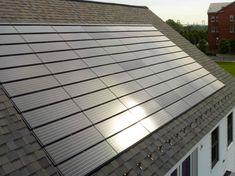 BIPV as roof shingles. #solar #aurinkopaneeli #aurinkoenergia Solar info in Finland: www.cioy.fi