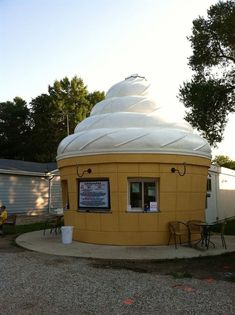 The Sweet Spot, Clear Lake You won't miss this ice cream cone-shaped shop. The Sweet Spot has been serving ice cream and frozen yogurt with 40 toppings to Clear Lake visitors since 2012.
