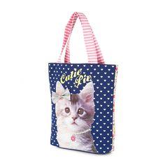 Kids Cutie Pie Cat Tote Bag   Claire's