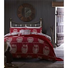 Catherine Lansfield A Wise Old Owl Duvet Cover Set - Double