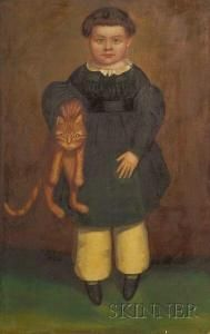 artist henry walton | Henry Walton - Portrait Of A Boy With His Cat