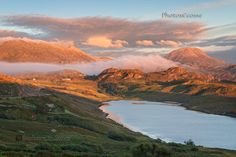Foinaven and Arkle. Evening light in Summer. Badcall. Sutherland. Scotland.