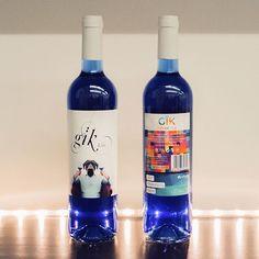 Blue Wine - Named Blue Nun - GIK - Spanish wine company - blend red/white grapes from Spain: La Rioja, Castilla-La mancha, leon and Zaragoza
