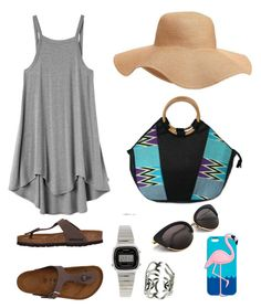 """Summer 2017 #1"" by maureen-meslin on Polyvore featuring mode, RVCA, Birkenstock, Old Navy, NOVICA et Casio"