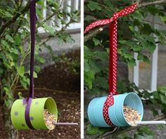 Mangeoire oiseaux dans le jardin en plus de 20 idées faciles à bricoler