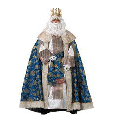 DisfracesMimo, disfraz de rey gaspar lujo adulto. Es perfecto para celebraciones navideñas y cabalgatas de reyes. tales como belenes vivientes,desfiles o las tradicionales representaciones escolares.Este disfraz es ideal para tus fiestas temáticas de disfraces reyes magos adulto