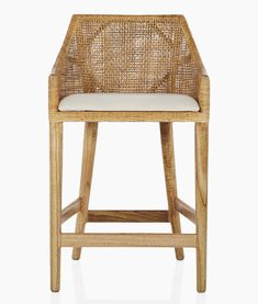 The Miami kitchen stool has a classic form, that is wrapped in a natural rattan weave, producing a contemporary seating option with rustic style. A light aesthetic that has a contemporary versatility for your kitchen setting.