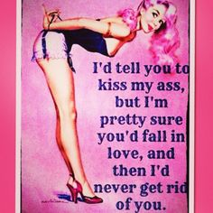 Pin up girl quote