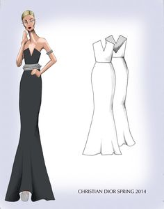 Advanced Fashion Sketching 2013 // Dior Collection - Amy Garrison