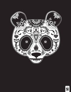 Justin's ads show animals that are on the brink of extinction in the style of traditional D�a de los Muertos (Day of the Dead) Sugar Skulls. | Artist Depicts Endangered Animals As Beautiful Sugar Skulls