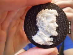 Made Abraham Lincoln's face out of oreo creme. what do you guys think?