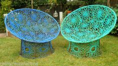 PAIR-OF-EARLY-1990S-HABITAT-GARDEN-CHAIRS-UNUSUAL-DESIGN-GOOD-VINTAGE-CONDITION