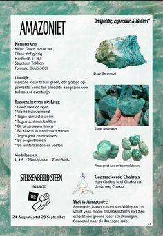 Amazoniet- uitleg en werking - Gaia zilveren sieraden