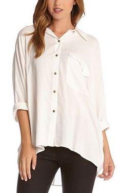 Boyfriend Shirt Fashion! Love Love Love! Love the Oversized Pocket and the Long Hem! White Boyfriend Shirt Comfy Weekend Fashion  #Sexy #White #Boyfriend Shirt #Things_I_Want