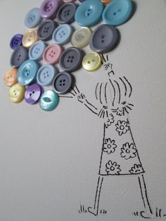Button Art Canvas (A4)