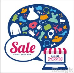 Creative online shopping vector background
