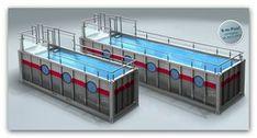 """ein swimming pool im container. genau das richtige bei dem wetter. …und für die kostenlose werbung für das """"nagel-pool"""" könnt ihr gerne als entschädigungso einen wasser-container hier im hof abstellen.… Weiterlesen"""