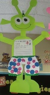 Cute aliens to go with the book Aliens Love Underpants.
