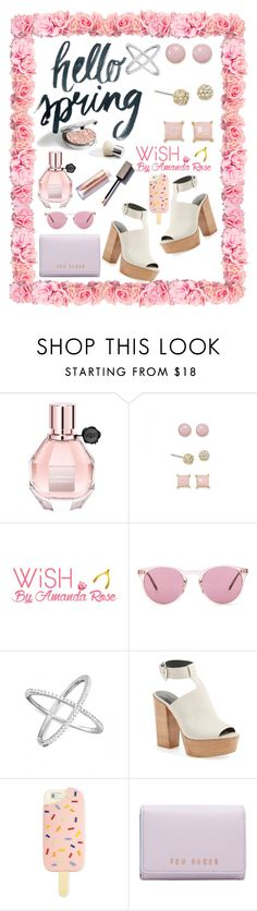 """""""Spring Fever and Fashions"""" by mlgjewelry ❤ liked on Polyvore featuring Viktor & Rolf, Wish by Amanda Rose, Oliver Peoples, Rebecca Minkoff, Tory Burch and Ted Baker"""