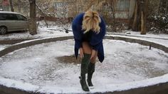 Natalia - Schnee und lange Stiefel (snow, heels and long boots), Part I ...