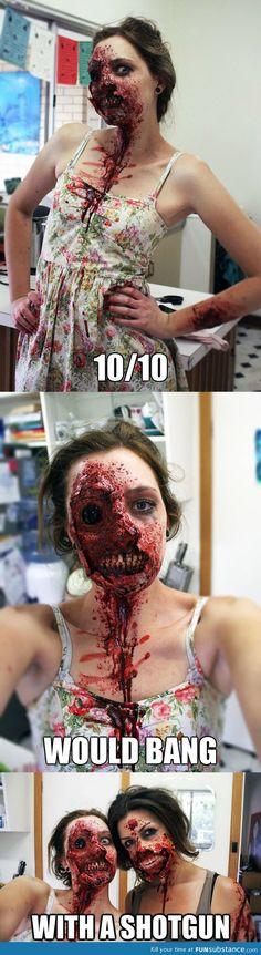 """""""Impressive zombie makeup"""" I NEED THIS!"""