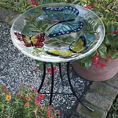 1000 Images About Fused Glass Bird Bath On Pinterest