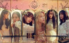 """On the January 18 broadcast of KBS Cool FM's """"Moon Hee Jun's Music Show,"""" GFRIEND appeared as guests to promote their latest title track """"Sunrise. Wallpaper Please, New Wallpaper, Sunrise Wallpaper, Sinb Gfriend, Music Sites, G Friend, New Image, Cute Wallpapers, Girl Group"""