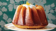 """The """"triple"""" in this recipe comes from citrus in the batter, citrus syrup brushed over the warm cake, and a finishing touch of citrus glaze just for fun!"""
