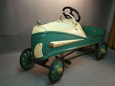*GENDRON 'R' GARTON? ~ Original Conditon Pedal Car Gendron or Garton? Barn Find.