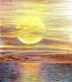Golden Sunset by Christina Wadeley - Win vouchers worth from Winsor & Newton in our Calendar Challenge - February 2020 Competition, February, Palette, Challenges, Colour, Sunset, Artist, Color