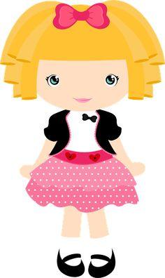Little Girl Crafts, Cute Little Girls, Cute Kids, Lalaloopsy, Felt Dolls, Paper Dolls, Card Making Templates, Cute Clipart, Girl Clipart