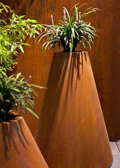 outdoor corten planters
