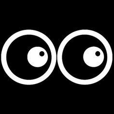 Cartoon Eyes Funny Cool Vinyl Sticker Decal Car Bumper Helmet Skateboard Osarix #AveryDennisonVinyl