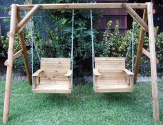 Adult swings  {like the idea just needs a bit more design for a great finished product}