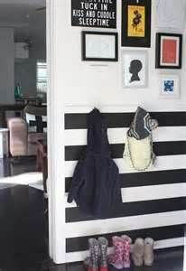 then paint the light gray and darker gray stripes below the chair rail ...