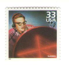 10 Unused 1999 Lasers - Vintage Postage Stamps Number 3188k