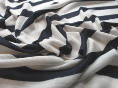 Fabric Godmother - Sailor Stripe Jersey Slub - Navy, £15.00 (http://www.fabricgodmother.co.uk/sailor-stripe-jersey-slub-navy/)