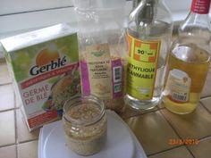 Les protéines de soja et de blés sont des actifs très utiles pour donner brillance et légèreté aux cheveux, on les trouve à acheter sous forme liquide, mais on peut facilement les extraire soi-même c'est dans l'eau, l'éthanol, l'acide acétique (vinaigre)...