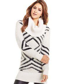 XOXO Juniors' Eyelash-Knit Tunic Sweater