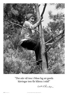 """""""It doesn't say in the mosaic law that old women can't climb trees. Words Quotes, Me Quotes, Pippi Longstocking, Words Worth, Great Words, Beautiful Pictures, Black And White, Feelings, Funny"""