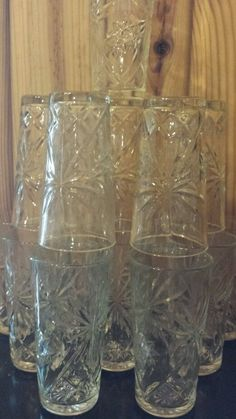 EAPC STAR OF DAVID ICE TEA TUMBLERS GLASSES picclick.com